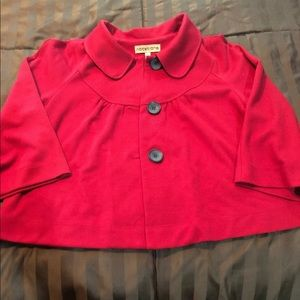 Notations red short jacket nwot size small